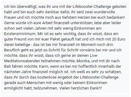 Lifebooster Challenge